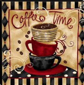 Diamond painting coffee time (50x50cm)(full)
