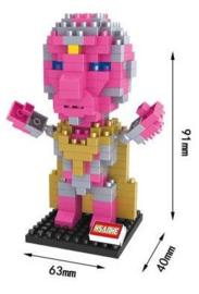 Diamond blocks roze mannetje (232 blokjes)