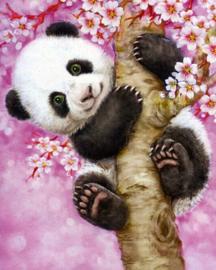 Diamond painting panda (40x30cm)(full)
