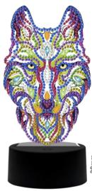 Diamond painting ledverlichting wolf (verschillende kleuren led)