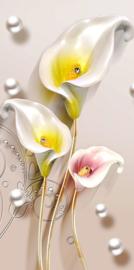 Diamond painting mooie bloemen (70x35cm)(full)