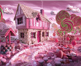 Diamond painting candy house (50x40cm)