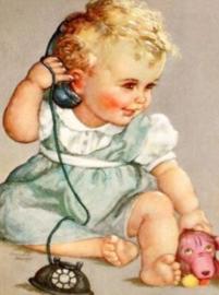 Diamond painting schattige baby (50x40cm)(full)