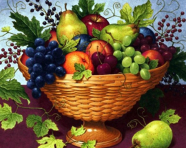 Diamond painting fruitschaal (50x40cm)(full)