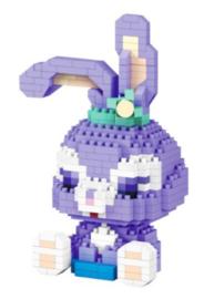 Diamond blocks paars konijn (448 blokjes)