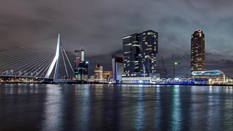 Diamond painting skyline Rotterdam (80x40cm)(full)