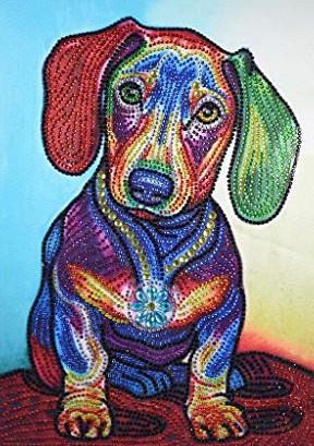 Diamond painting hondje (35x25cm)