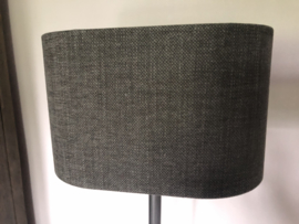 Lampenkap voor wandlamp, grijs linnen