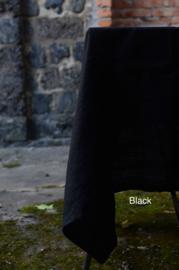 Linnen tafelkleed zwart