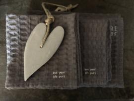 Wafelgastendoekje, grijs , 35 x 50 cm