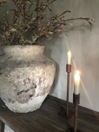 Kandelaar Beau van Puur Wonen, 30 cm roest