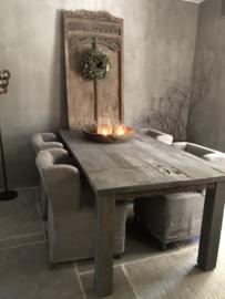 Eettafel van oud hout 2m , nr 2