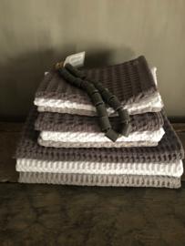 Wafelbadhanddoek, grijs, 70 x 140 cm