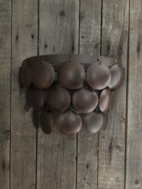 Wandlamp schijfjes, bruin
