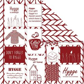 Designpapier Hygge, 5 stuks