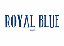 Flockfolie 20 x 25 cm Royal Blue
