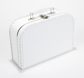 Kartonnen koffertje 25 cm wit