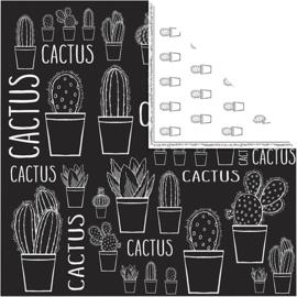 Designpapier Cactus, 5 stuks