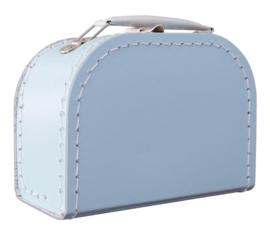 Kartonnen koffertje 20 cm lichtblauw