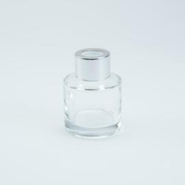Geurflesje cylinder met zilveren schroefdop