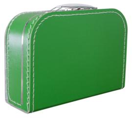 Kartonnen koffertje 25 cm grasgroen
