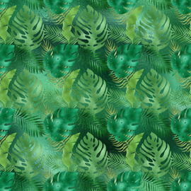 Vinyl Tropical Leafs 11