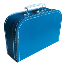 Kartonnen koffertje 25 cm petrol
