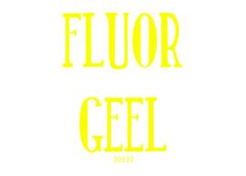 Fluor flexfolie Geel 30 x 50 cm