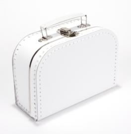 Kartonnen koffertje 20 cm wit