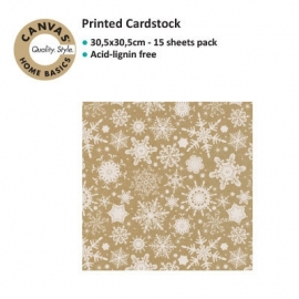 Canvas Corp Snowflake white