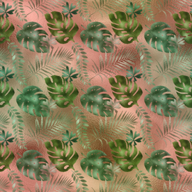 Vinyl Tropical Leafs 3