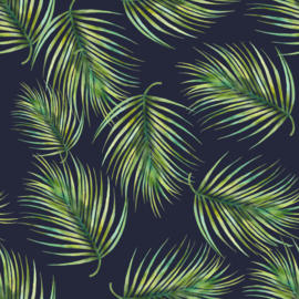 Vinyl Tropical Summer  Fern Navy
