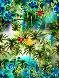 Vinyl Awesome Flowers Palmtrees & Fern