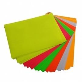 Stickerpapier fluor geel A4