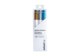 Cricut Joy Metallic Markers, gold, silver, blue