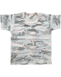 T-shirt korte mouw Camouflage Pink