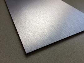 Naambordje Dibond zilverkleurig