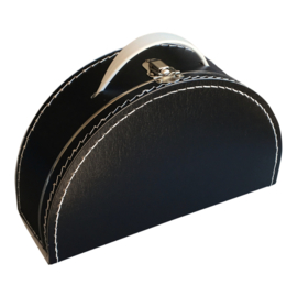 Koffertje halfrond zwart