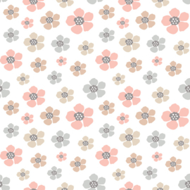 Vinyl Pretty Pastel Pattern Flowers 2