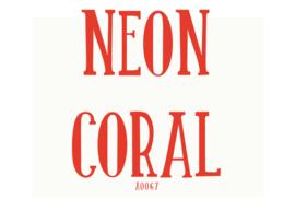 Fluor flexfolie Coral 30 x 50 cm