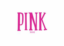 Flockfolie 30 x 50 cm Pink