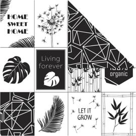 Designpapier Let it grow, 5 stuks