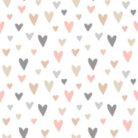 Vinyl Pretty Pastel Pattern Hearts