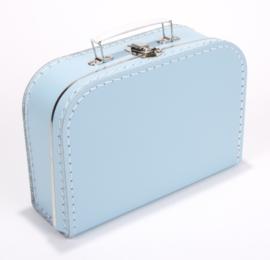 Kartonnen koffertje 25 cm lichtblauw
