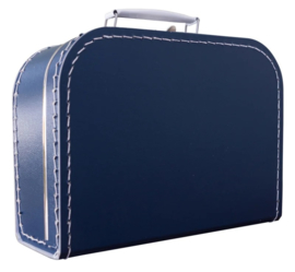 Kartonnen koffertje 25 cm donkerblauw