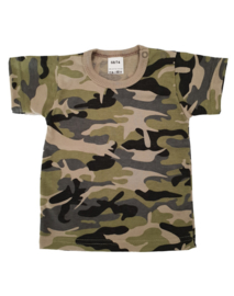 T-shirt korte mouw Camouflage Green