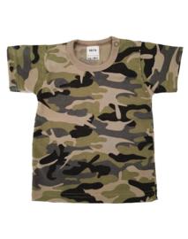 T-shirt korte mouw Camouflage Green