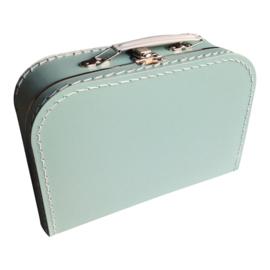 Kartonnen koffertje 25 cm mintgroen