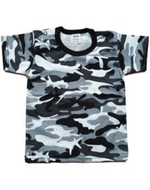 T-shirt korte mouw Camouflage Grey