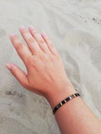 IBY Miyuki armband Industrieel zwart